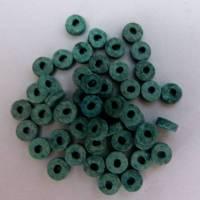 50 Keramikperlen, Scheibe, petrol matt, Schmuckherstellung, Perlen, Keramik, Schmuck selber machen  Bild 1
