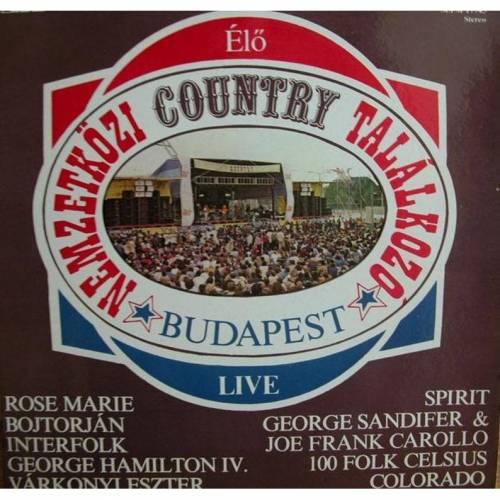 Country Budapest live, 1983, LP und Schutzumschlag gut.