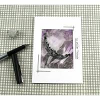 Beileidskarte DinA6 mit Umschlag Einzelstück von ZWEIFARBIG Trauerkarte Kondolenz Bild 1
