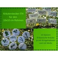 Stickdatei Kräuterstecker ITH Set - 10x10 cm Bild 1
