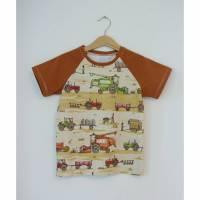 aCaso kurzarm T-Shirt aus weichem BIO Jersey Bauernhoffahrzeuge von Lillestoff