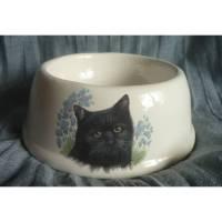 Kleiner Fress-oder Wassernapf für Hunde o. Katzen,Futter,Napf schwarze Katze Bild 1