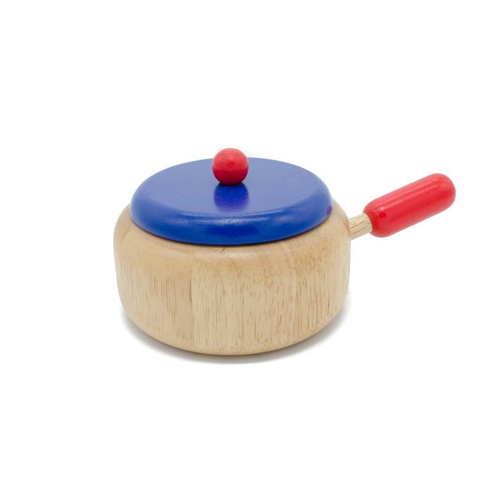 Stielkasserolle, Kinderküchenzubehör aus Holz Bild 1