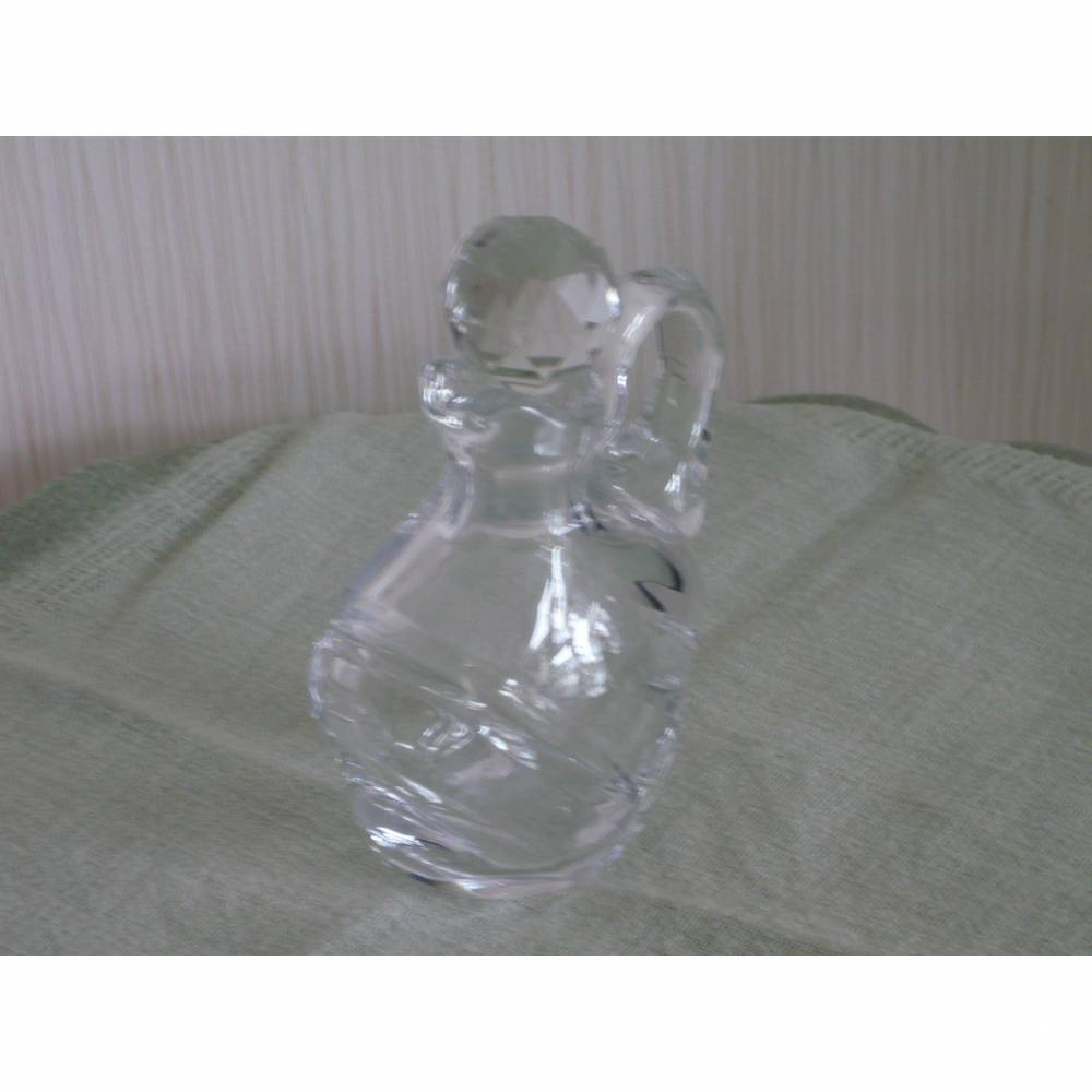 Kristallkaraffe Flacon vintage Karaffe Glas Bleikristall 50er 60er Stöpsel eingeschliffen  Bild 1
