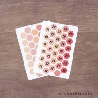kleines Planersticker-Set Waben Rot (018) Bild 1
