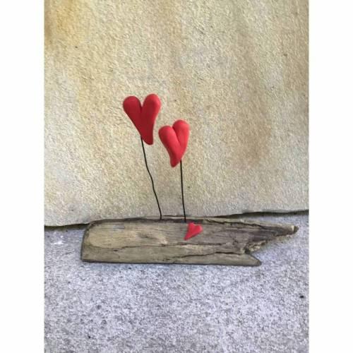 Liebe auf Treibholz, Herzen auf Schwemmholz