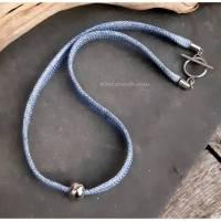 Halskette Jeans-Collier, Upcycling (1) Bild 1