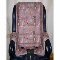 Auflage Ersatzbezug passend für Fahrradsitz Jockey Relax oder Comfort, Waldtiere Fahrradsitzbezug Polster aus Baumwolle Bild 1