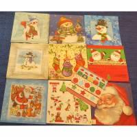 10 Servietten / Motivservietten Weihnachten / Santa / Schneemann Mix 7 Bild 1