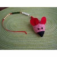 Rechenkette, Rechenmaus, Rechenhilfe zum Schulstart aus Baumwolle Bild 1
