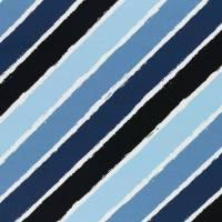 18,50EUR/m French Terry Diagonally in blau Lycklig Design Bild 1