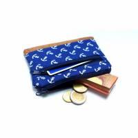 Kleines Portemonnaie Geldbörse Anker blau Bild 1