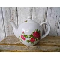 kleine Teekanne / Porzellan Kanne mit Rosendekor  / Nippon Porzellan Bild 1