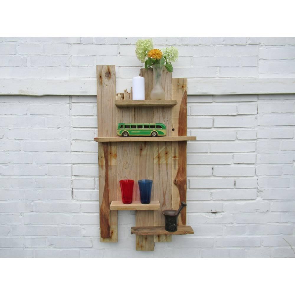 Treibholzmöbel, Regal aus Treibholz und Rinde, individuell, zum Aufhängen,  Regal fürs Badezimmer, Badregal, kleines Regal, Küchenregal