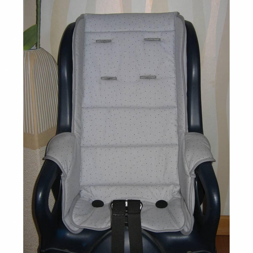 Auflage Ersatzbezug passend für Fahrradsitz Jockey Relax oder Comfort, hellgrau Fahrradsitzbezug Polster aus Baumwolle Bild 1