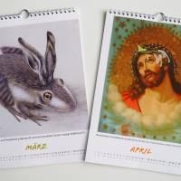 Kunztdruck-Froschkunzt-Kalender 2022, Kalender, Wandkalender, Kalender A4, lustiger Kalender, Froschkalender, Frosch  Bild 3