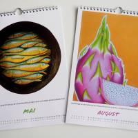 Kunztdruck-Froschkunzt-Kalender 2022, Kalender, Wandkalender, Kalender A4, lustiger Kalender, Froschkalender, Frosch  Bild 4
