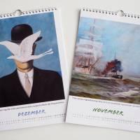 Kunztdruck-Froschkunzt-Kalender 2022, Kalender, Wandkalender, Kalender A4, lustiger Kalender, Froschkalender, Frosch  Bild 7