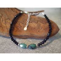 Echte Smaragd Armband mit Spinell. Silber 925. Echte Natürliche Edelstein - Handarbeit - Fair Trade Bild 1