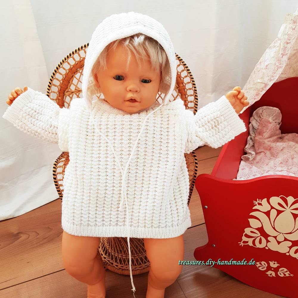 Vintage, Baby Ausfahrgarnitur aus den 70ern, Jäckchen mit Mütze Bild 1