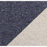 16,50EUR/m Sweat Piet mit Fleece Abseite in jeansblau Bild 1