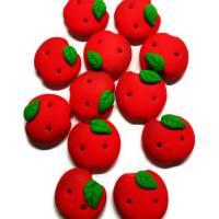 Apfel-Knöpfe Sets aus Fimo, Dekoration Bild 1