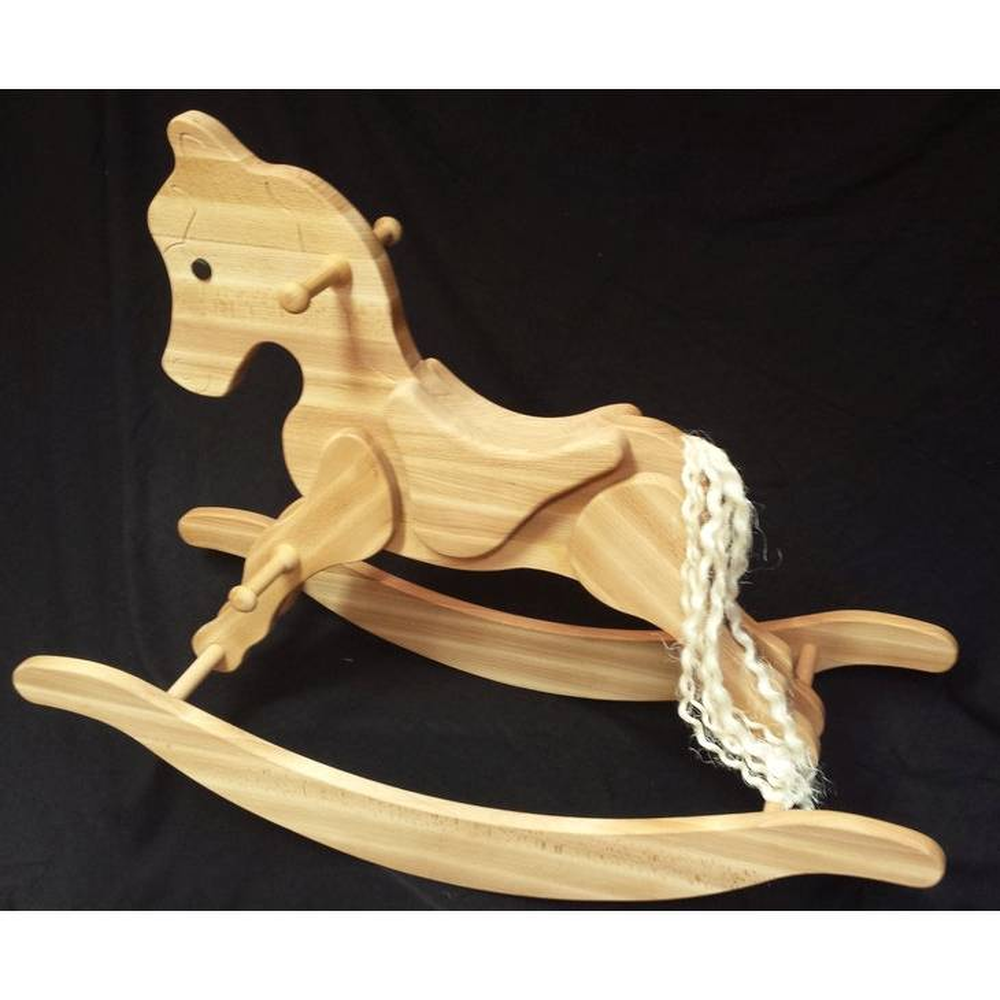 Schaukelpferd aus Holz Calamity, Holzschaukelpferd Bild 1