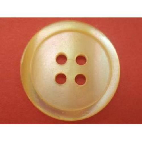 Perlmuttknöpfe gelb 18mm (1607) Knöpfe