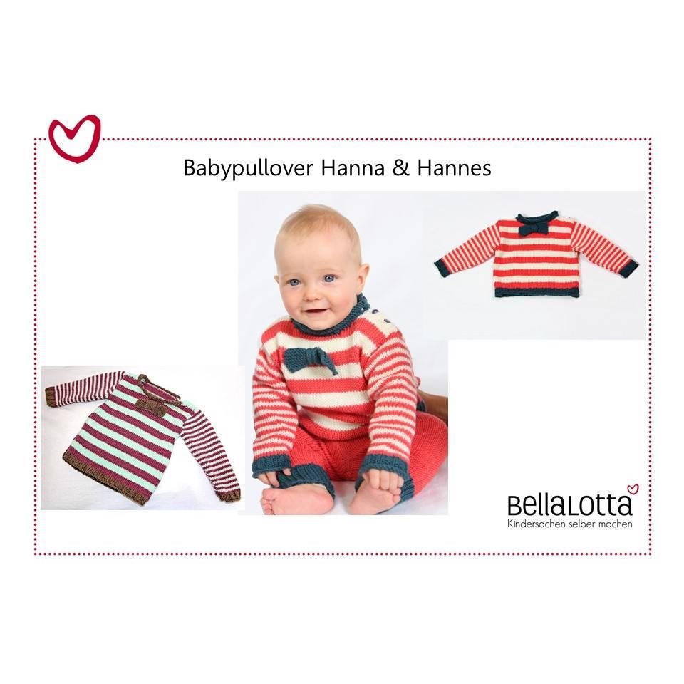 Downloadnleitung zum Stricken eines Babypullovers in Ringeloptik für Babys von 0-24 Monaten, Strickanleitung Babys, Anleitung stricken Baby Bild 1