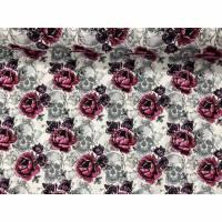 Baumwolljersey mit Rosen und Totenköpfen Bild 1