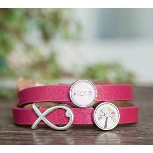 personalisiertes Armband, Kommunion, Firmung, Taufe, Konfirmation, Geburtstag, Einschulung, Lederarmband mit Wunschnamen ichthys