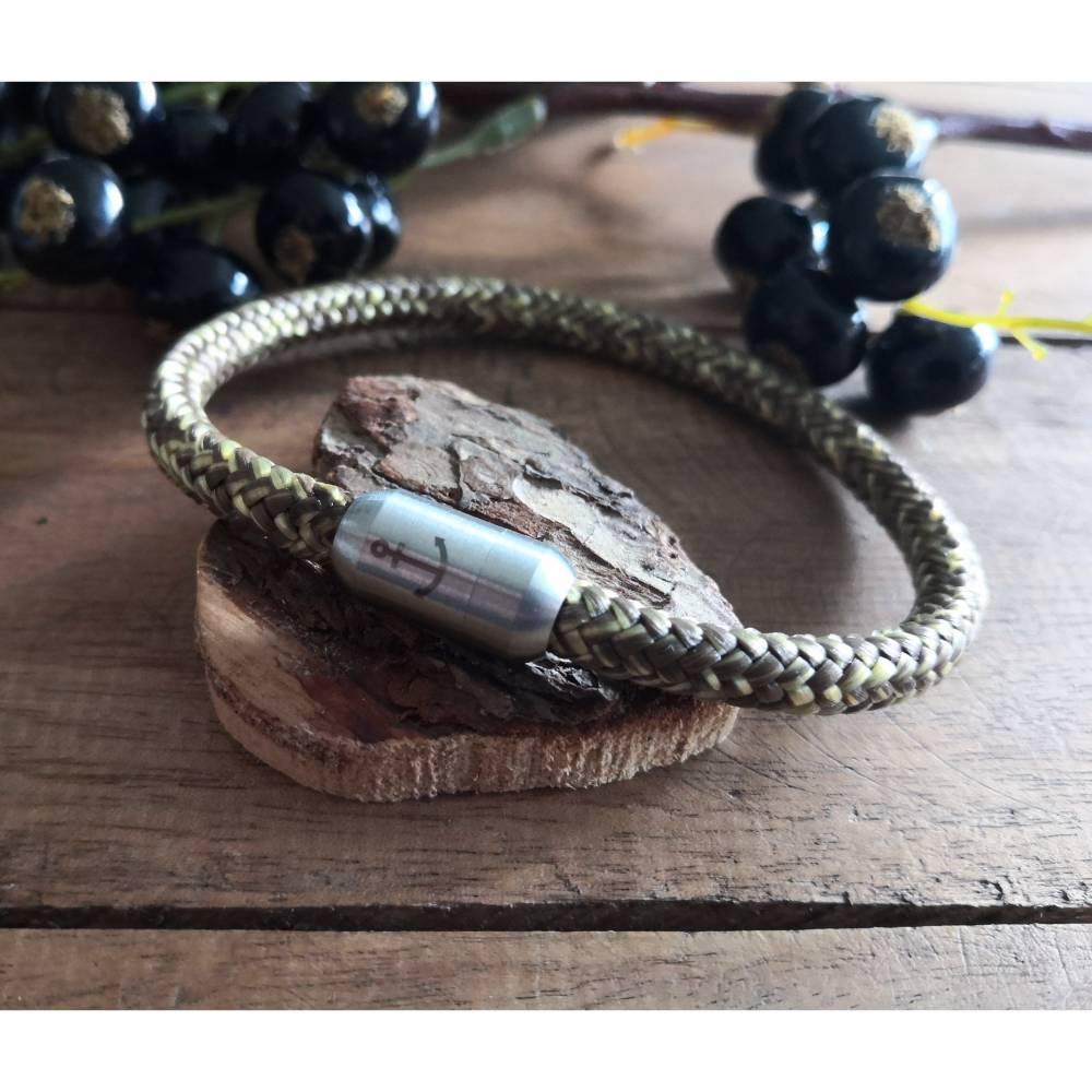 Armband aus Segeltau, Segeltauarmband mit Magnetverschluss Bild 1