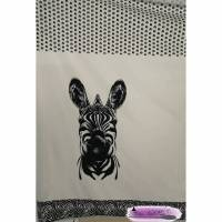 Panel Baumwolljersey Zebra offwhite  Bild 1