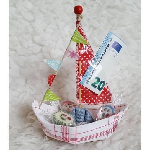 Geldgeschenkverpackung - Schiffchen Bild 1
