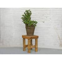 Hocker, Hocker aus Palettenholz, Palettenmöbel, Blumenhocken, Beistelltisch, Nachttisch, stabiler Holzhocker, Schemel Bild 1