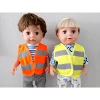 Warnweste für Puppen und Teddys 40-45 cm, Sicherheitsweste für Puppen, Freizeitweste für Puppen Bild 1