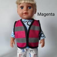 Warnweste für Puppen und Teddys 40-45 cm, Sicherheitsweste für Puppen, Freizeitweste für Puppen Bild 5