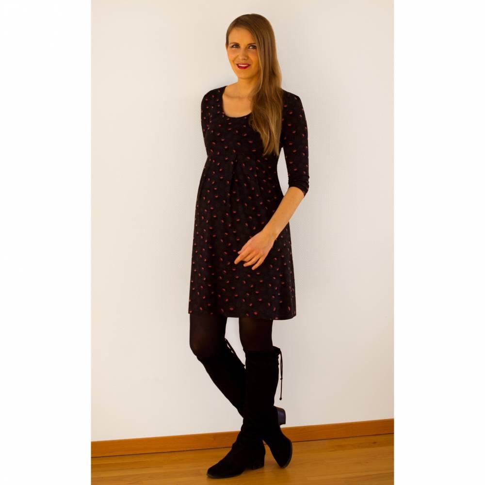 Kleid DUFFY Blättchenmuster Bild 1