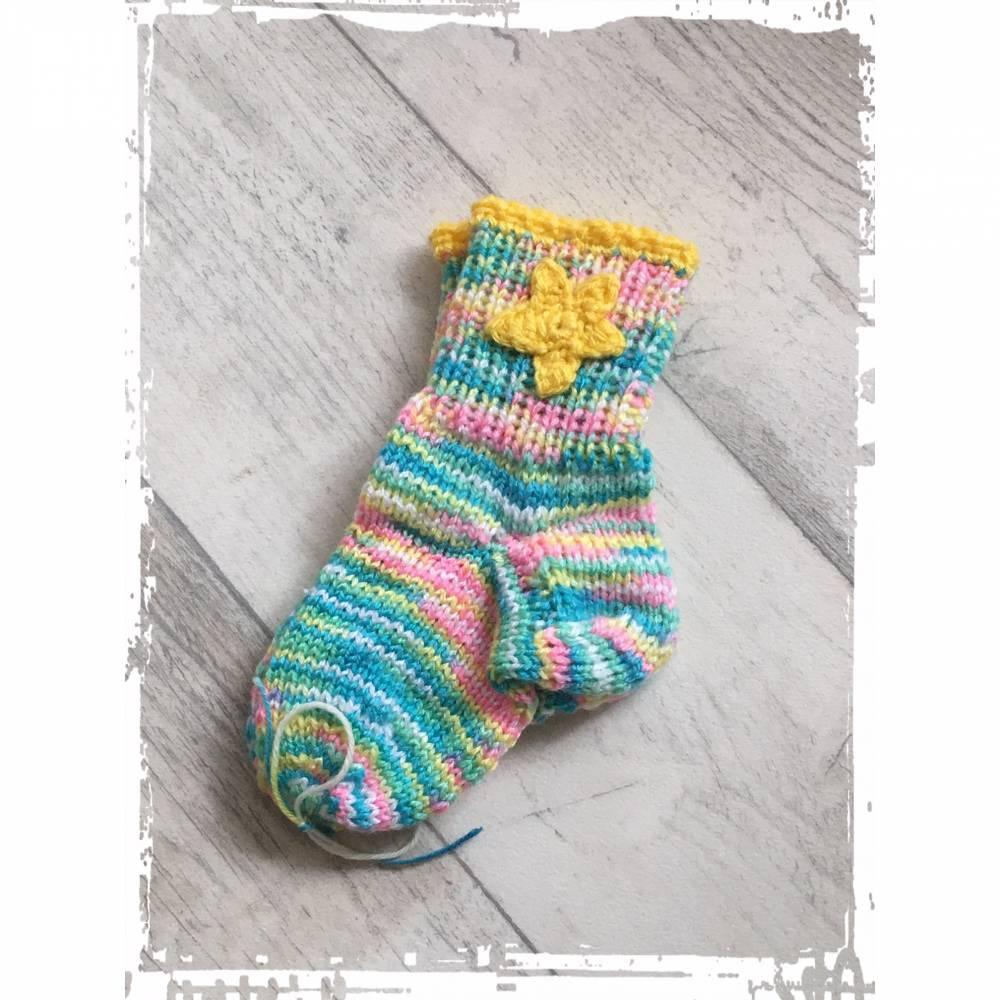 Handgestrickte Kindersocken aus hochwertigen Materialien in Größe 23! Bild 1