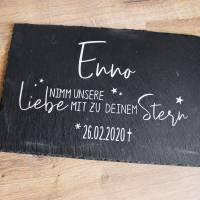"""Schieferplatte mit Spruch """"Sternenkind"""" aus der Manufaktur KarLa Bild 3"""