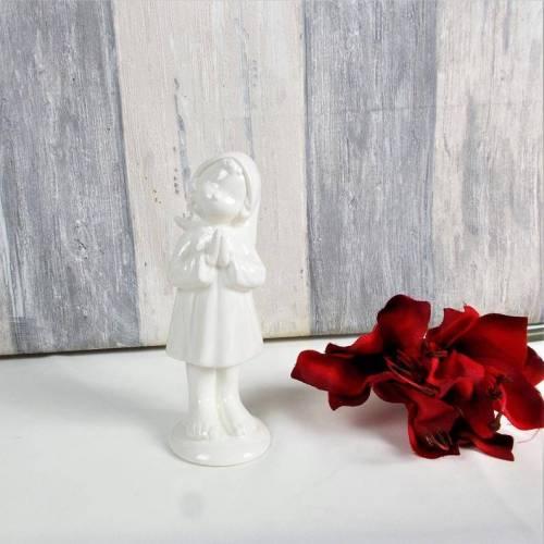 Floristikbedarf, weißer Keramikengel, Engel, Tischdeko