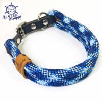 Hundehalsband verstellbar verschiedene Blautöne Bild 1