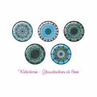 Glas Cabochon mit Motiv ab 8mm / Motivcabochon / Glass Cabochon / Material / Cabochonschmuck (1085) Bild 1