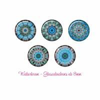 Glas Cabochon mit Motiv ab 8mm / Motivcabochon / Glass Cabochon / Material / Cabochonschmuck (1088) Bild 1