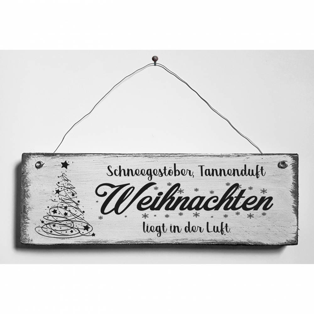 Weihnachten Holzschild Deko Türschild Retro Shabby Style Handarbeit Handgemacht Bild 1