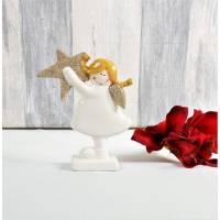 Floristikbedarf, Weihnachtsdeko kleiner Keramikengel 2er Set, Stückpreis/3,95 Euro Bild 1