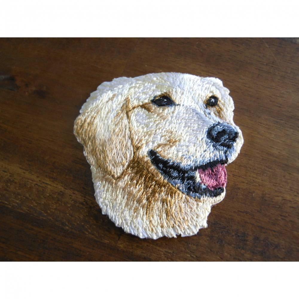 Golden Retriever Hund  Patch zum Aufbügeln  Bild 1