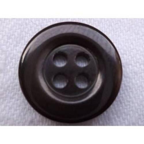 Perlmuttknöpfe dunkelgrau 15mm (1253) Knöpfe