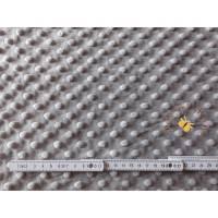 Meterware Minky traumhaft weicher Plüschstoff Fleece hochwertiger Microfaser-Plüsch Shannon Fabrics Cuddle Dimple Silbergrau Bild 1