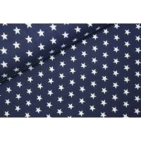 Baumwolljersey Stars blau/weiß 50x150 cm Meterware  Bild 1